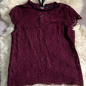 Eggplant Lace Top
